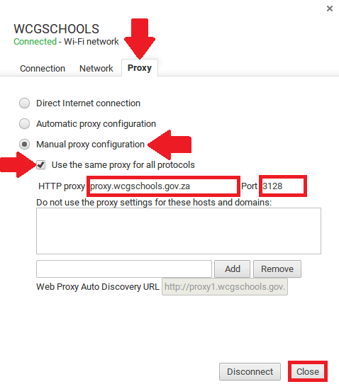 Connecting Google Chromebook to WCGSCHOOLS network (Wireless)