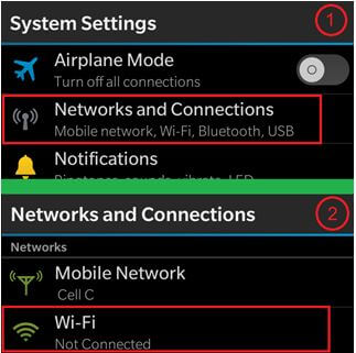 How to connect your Blackberry Device to WIFI